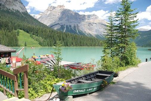 Canada, Emerald Lake, Water, Mountains