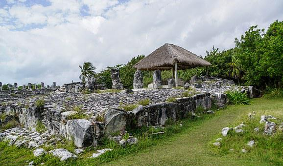 El Ray, Cancun, Mexico, Archaeological, Hut, Nature