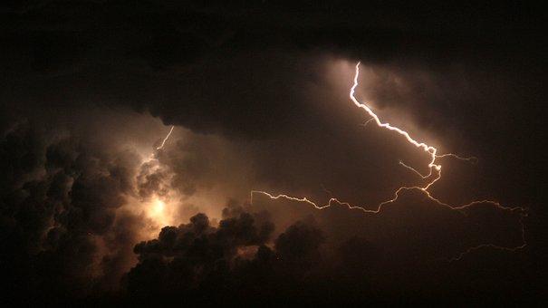 Storm, Light, Lightning Storm, Thunder, Night Sky