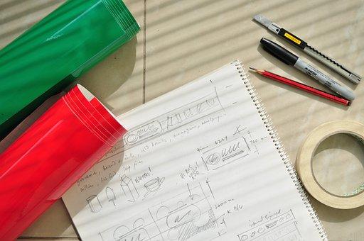 Art, Sketch, Masking Tape, Pencil