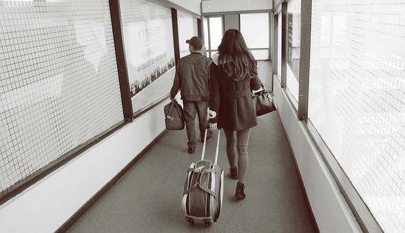 Airport, Airport Lounge, Lounge, Transportation, People
