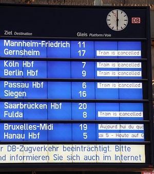 Deutsche Bahn, Railway Station, Rail Strike, Concourse