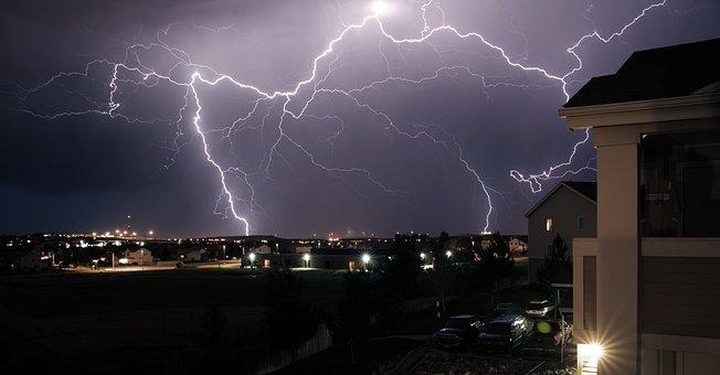 Storm, Thunder, Rays, Electric Rain