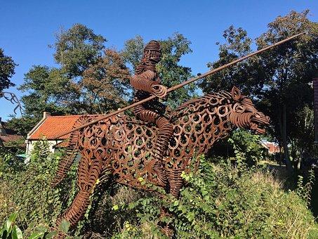 Artwork, Statue, Horse, Horseshoe, Ride, Ameland