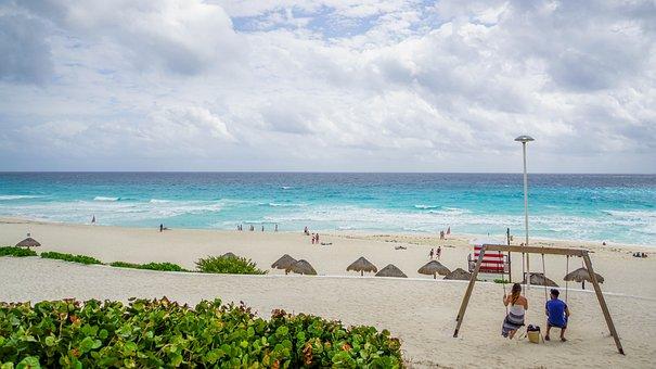 Beach, Cancun, Mexico, Tourism, Vacation, Ocean, Sand