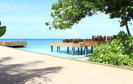 Maldives, Beach, Seating Arrangement, Chair, Lounge
