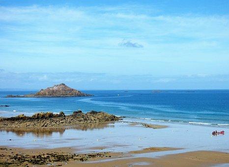 Sea, Brittany, Island, Emerald, Sides, Armor