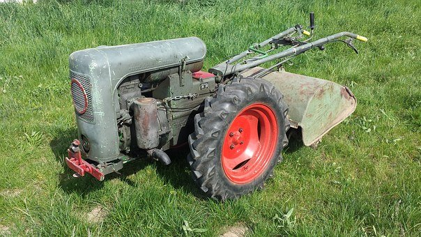 Single Axle, Tractor, Oldtimer, Milling Machine
