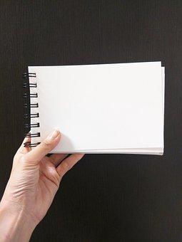 Hand, Note, Memo, Airplane, Sketch Book, White, Paper