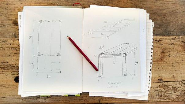 Sketch, Book, Signs, Blue Print, Blueprint, Drawing