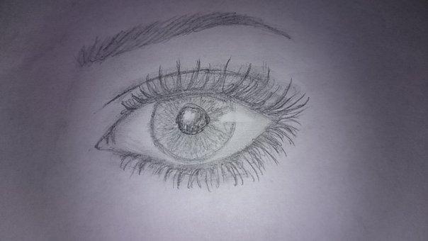 Eye, Sketch, Watch, Glance, See, Signs, Creative