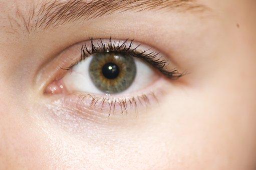 Eye, Green, Girl, Close Up, Face, Skin, Eyelachs, Algae