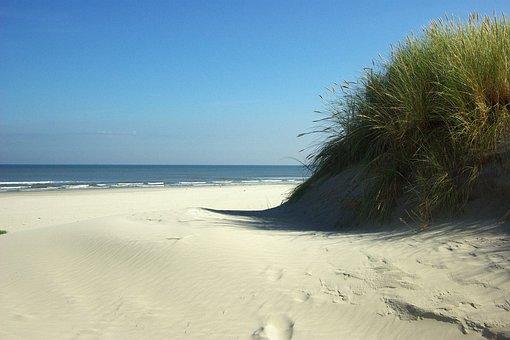 Beach, Sea, Ameland, Dunes, Coast, Holiday, Sun