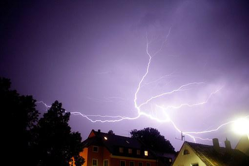 Thunderstorm, Night, Erding, Sky, Flash, Weather