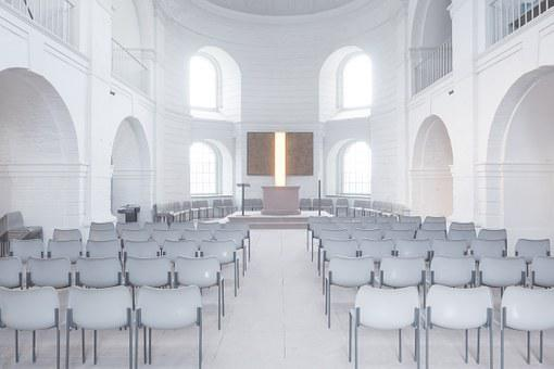 Church, Space, Chairs, Wedding Hall, Marry, Atmospheric