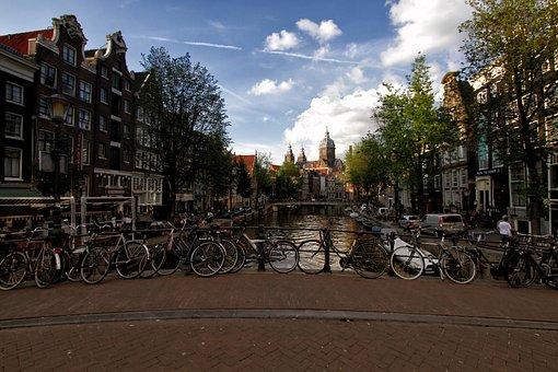Amsterdam, Holland, Bike, Canal, City, Europe, Travel