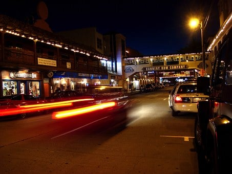 Cannery Row, California, Monterey, Night, Evening, City