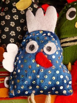 Finger Puppet, Hand Puppet, Doll, Fabric, Toys, Bird