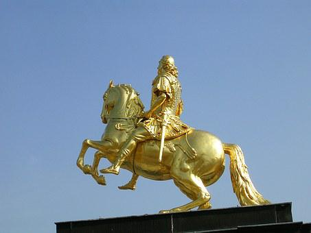 Dresden, Rider Of Golden Rider, Horse
