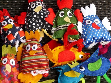 Finger Puppets, Hand Puppets, Dolls, Fabric, Toys, Bird