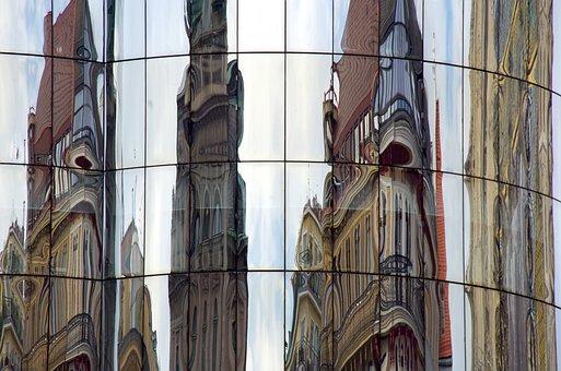 Haas-haus, Home, Glass Facade, Facade, Mirroring, Glass