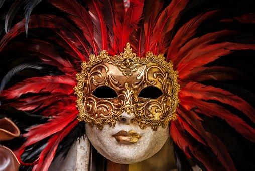 Eyes, Golden, Mask, Cracks, Feathers, Eyeshadow