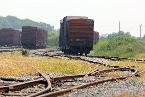 Trains, Boxcar, Track, Rail, Transportation, Freight