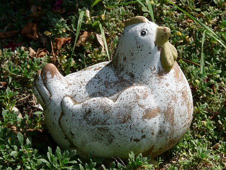 Chicken, Garden, Fig, Bird, Ornament, Garden Figurines