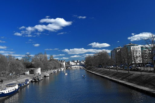 Blue, City, Light Effect, Clouds, Hiking, Spring