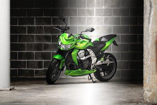 Garage, Motorcycle, Kawasaki, Z750