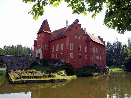Castle, červená Lhota, Monument, Lake, Czech Republic
