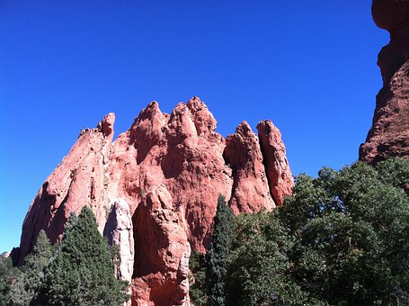 Garden Of The Gods, Mountains, Colorado, Landscape, Sky