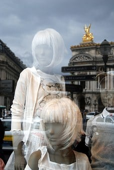 Reflections, Mirror Effect, Mannequin, Mode, Store