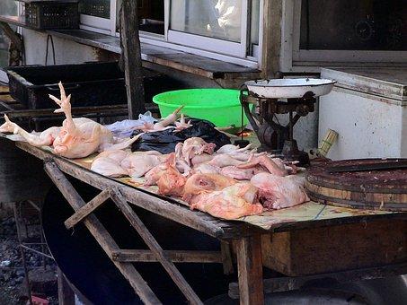 Market, Chickens, Meat, Battles, China, Chicken