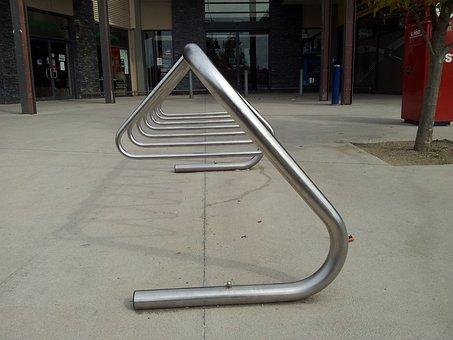 Stainless, Steel, Bike Rack, Metallic, Rack