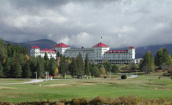 Bretton Woods, Resort, New Hampshire, Cloudy, Trees