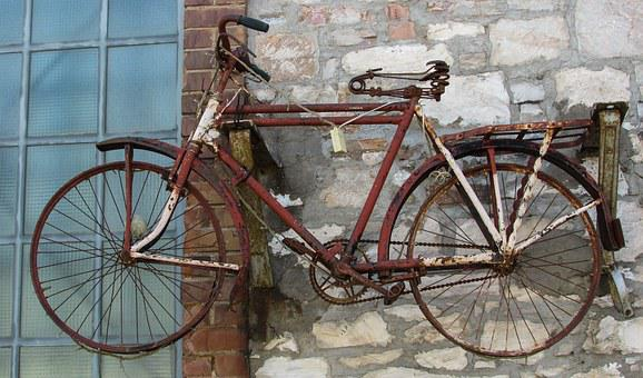 Bicycle, Rusty, Aged, Old Factory, Industrial, Building