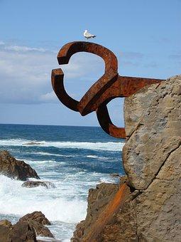 San Sebastian, Comb Of The Wind, Sculpture, Art, Sea
