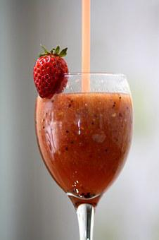 Smoothies, Strawberry, Fruit, Drink, Healthy, Berry