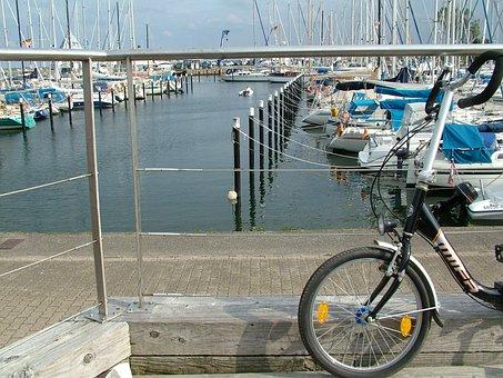 Port, Baltic Sea, Bike, Sea, Water, Sailing Ships