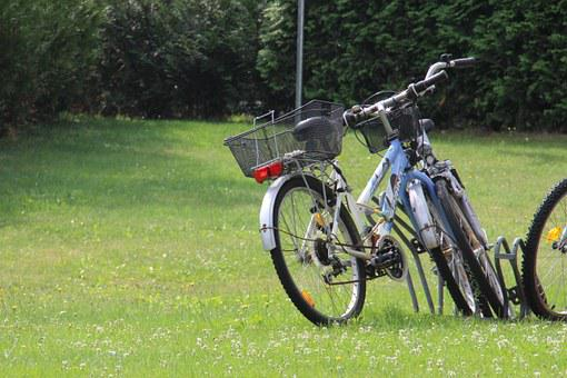 Bicycles, Meadow, Completed, Transport, Wheel, Grass