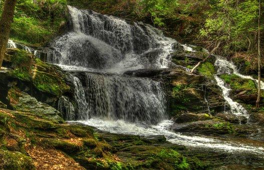 Garwin Falls, Waterfall, Motion, Wilton, New Hampshire