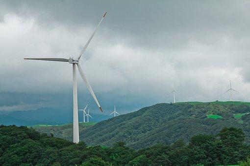 Daegwallyeong, Wind, Windmill, Wind Power Generator