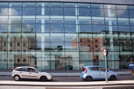 Facade, Glass, Building, Architecture, Mirroring