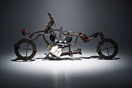 Harley Davidson, Motorbike, Arts, Iron, Metal