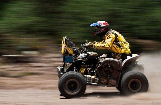 Atv, Sports, Motorbike, Four Wheeler, Dakar, Race