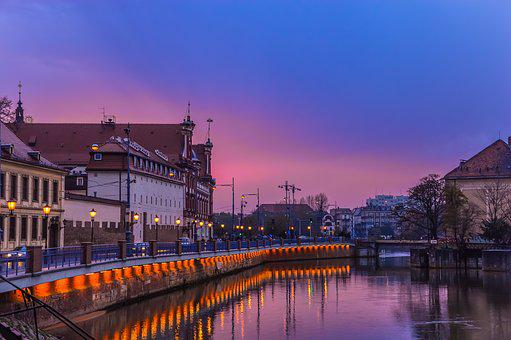 Autumn, Old Town, Poland, River, Riverside, Streets