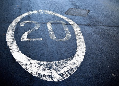 Restrictions, Speed, Symbol, Road, Sign, Background