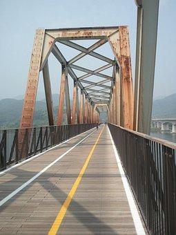 Bridge, Railroad Bridge, Rusty Legs, Bike Trail