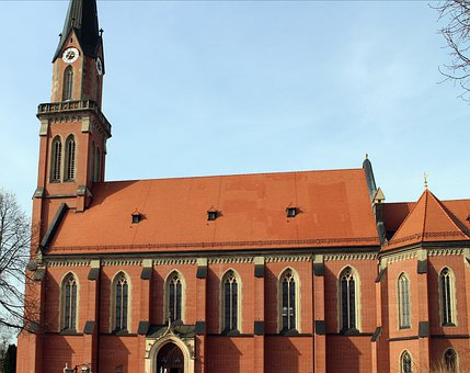Church, Building, Neo Gothic Style, Brick, Architecture